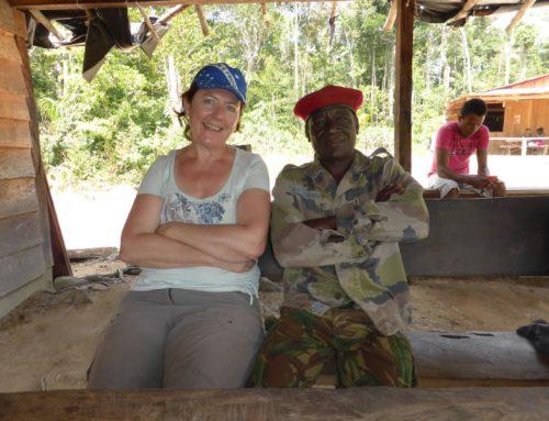 Visiting maroon land owner in Sarakreek region, Sipaliwini, Suriname, 2013.